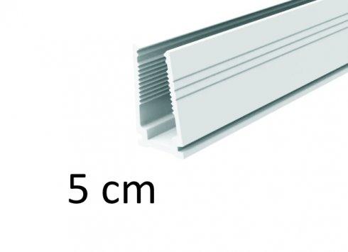 5 cm - Műanyag szerelősín LED-es fénycsíkokhoz