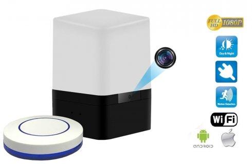 Mini USB LED svjetiljka s WiFi FULL HD kamerom i detekcijom pokreta + daljinski upravljač