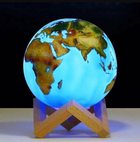 Globe 3D touch LAMP - USB-Globus zum Leuchten der Erde
