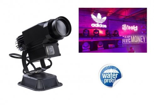 Gobo projector rotary LED 30W with projection of own logo up to 20M