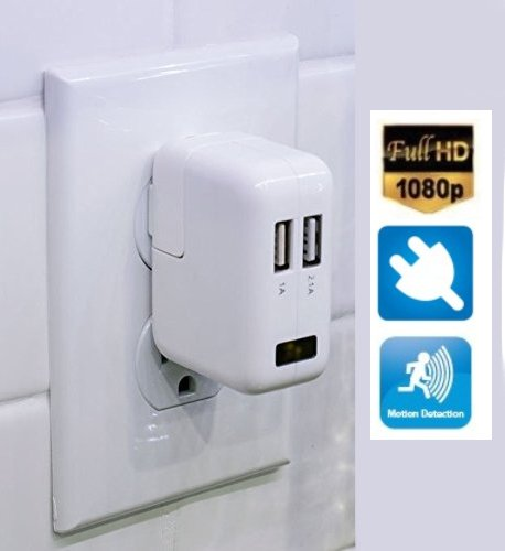 USB Charger Full HD camera + motion detection