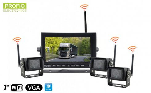 "Reversing set - 7"" LED WiFi monitor + 3x wireless camera"