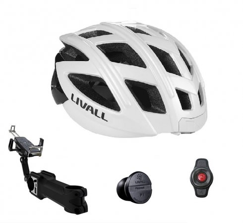 Bicycle helmets set - Livall BH60SE cycling helmet + multi-function extension with powerbank 5000mAh + nano speed sensor