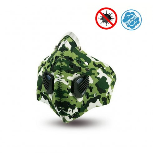 Protective face mask made of neoprene withmultistage filtration - XProtect Army