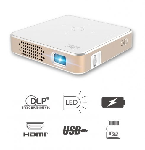 Mini proyector: el proyector LED de bolsillo más pequeño con USB / HDMI