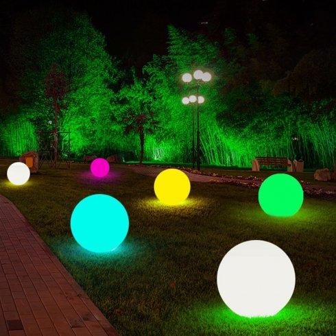 Vrtne globuse - Solarna LED svjetiljka 40cm - 8 boja + Li-ion baterija + solarna ploča + IP44 zaštita