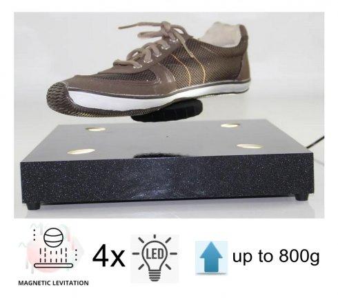 Antigravitační levitující reklamní plošina s nosností do 800g + 4x LED osvětlení