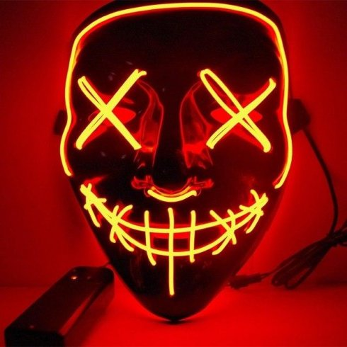 Purge masks with LED - Red