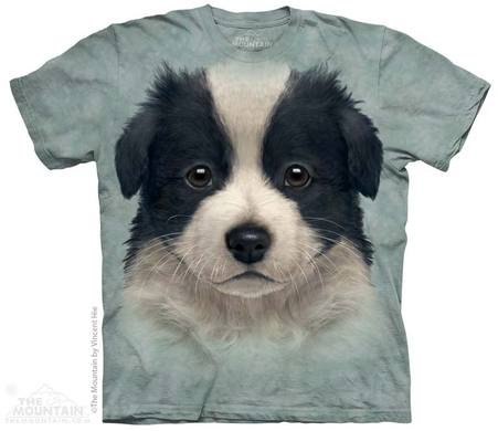 Hi-tech zwierząt shirt - Border collie puppy