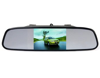 "Rearview mirror with 4,3"" display for reversing camera"