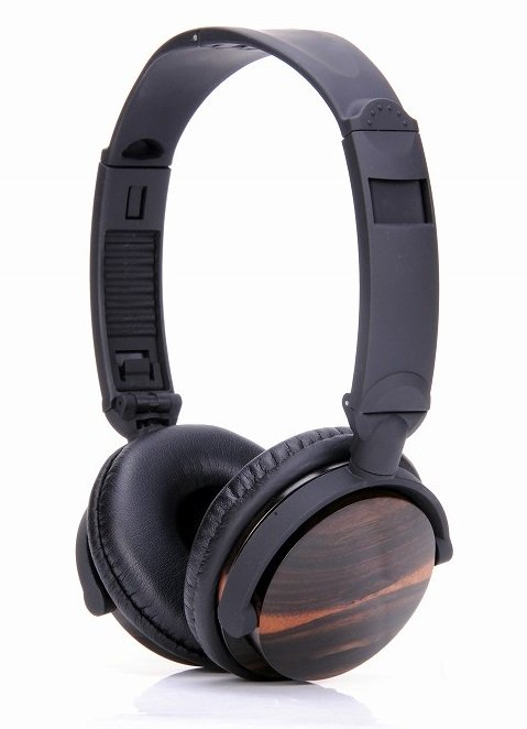 Headphones of dark walnut colour ESMOOTH ES-820EB