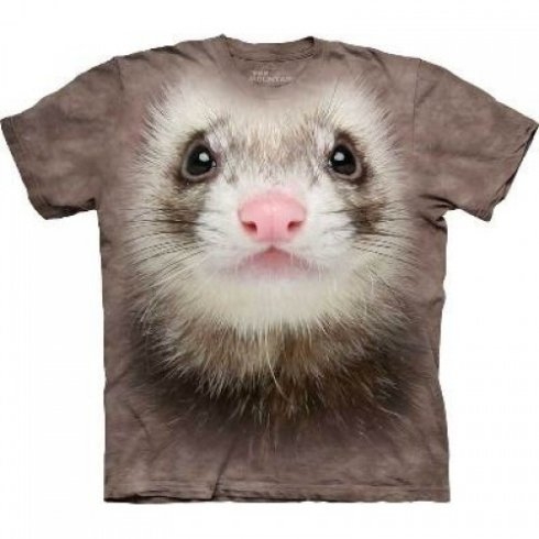 Visage T-shirt animal - Ferret