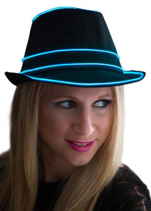 Neónový klobúk - modrý