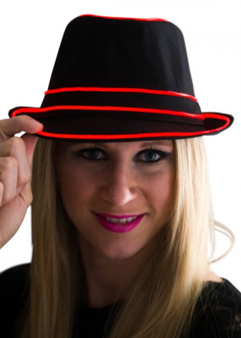 Flashing hat - red