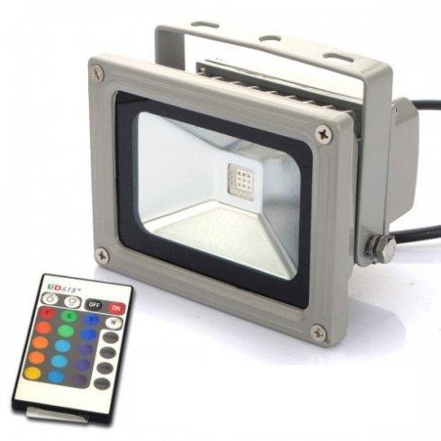 Reflector LED de 10 W RGB cu telecomandă