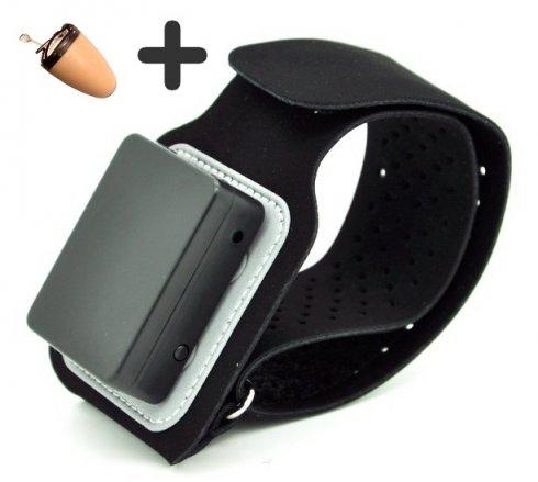 Niewidzialna słuchawka szpiegowska + opaska Bluetooth 5W