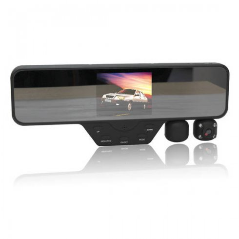 Rearview mirror with camera - 2x dual camera with FULL HD