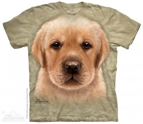 3D hi-tech shirt - Yellow Labrador puppy