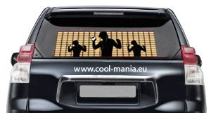 Equalizer car stickers - Party 42 x11 cm
