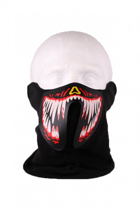 Rave masks for guys LED teeth - sound sensitive