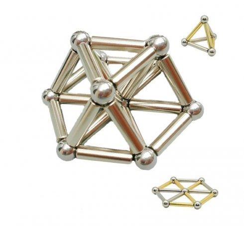 Tije NeoCube magnetice cu bile - aur și argint