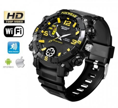 Watches camera Wifi + HD + Waterproof  with LED light + 16GB memory