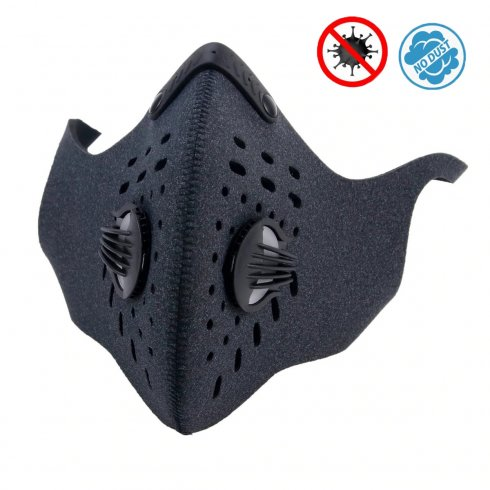 Respirator -neoprene face mask multistage filtration - XProtect black