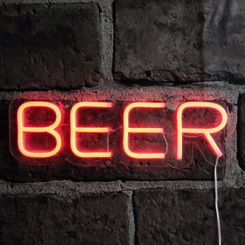 Neon beer sign - LED light up sign board
