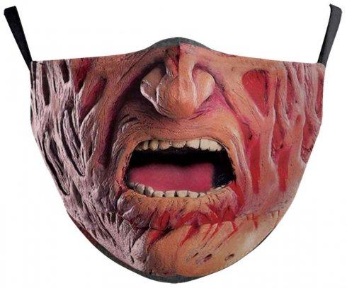 FREDDY KRUEGER maska (rúško) na tvár- 100% polyester