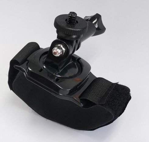 Rotating holder with Velcro strap for POV camera
