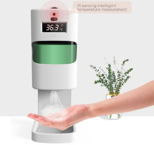 Automatic disinfection dispenser contactless - 1L + body temperature meter