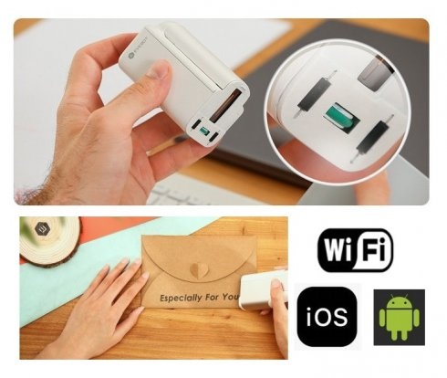 Impresora portátil de mano - EVEBOT Mini pen Wifi - imprimir logo + texto en varias superficies