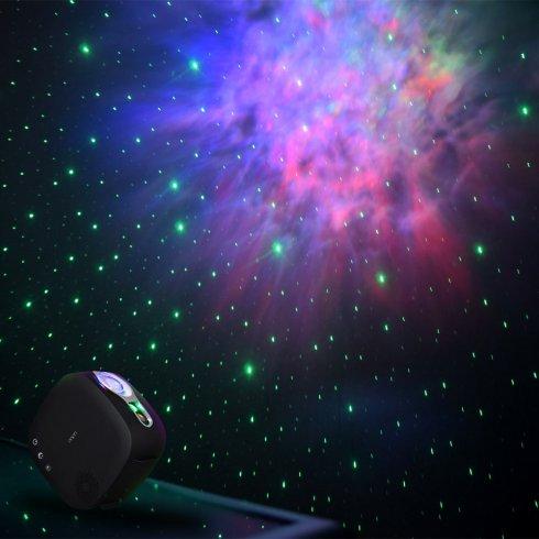 Proiettore del cielo - proiettore laser lucernario con luci della beatitudine delle stelle notturne + altoparlante Bluetooth