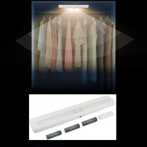 Svjetlo sa senzorom pokreta 28cm - napaja se 3x 1,5V AA baterijama + automatsko uključivanje