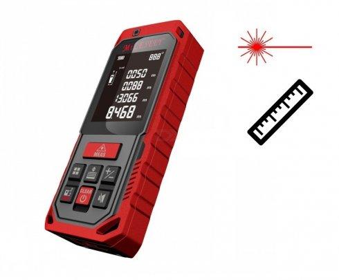 Medidor de distancia láser de hasta 100 m de alcance + protección IP65 + memoria