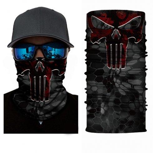 Multifunctional breathable face bandana - PUNISHER