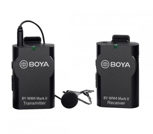Set microfono wireless Boya BY-WM4 Mark II