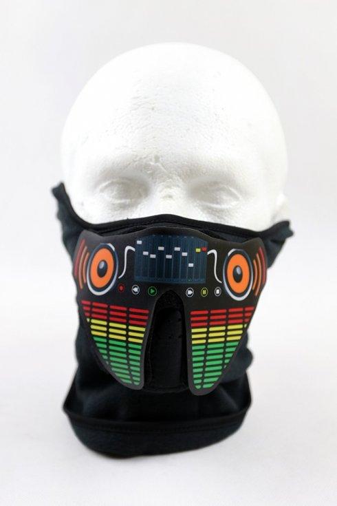LED maska Ekvalizer zvukovo senzitívna - DJ style