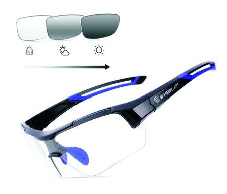 Fotochromatické brýle na kolo s bohatým příslušenstvím