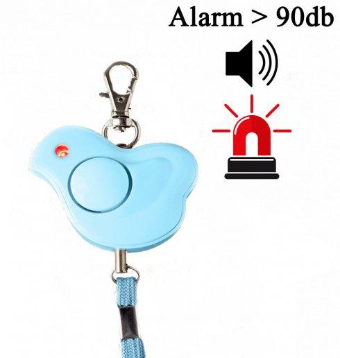 Mini alarm osobný prenosný - detský kačičkas hlasitosťou až 100db
