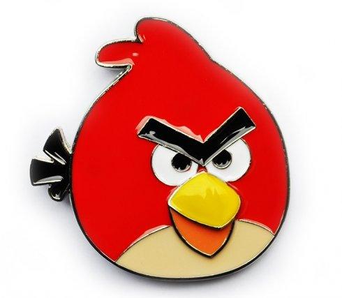 怒っている鳥 - ベルトのバックル