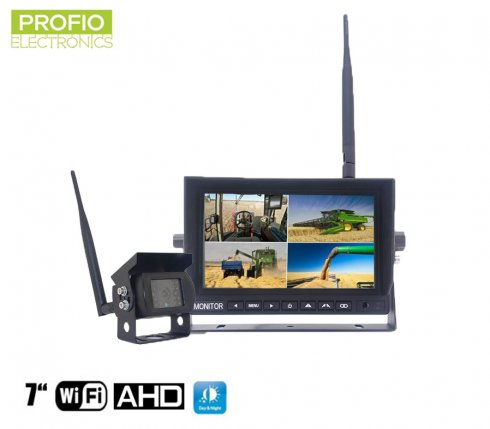 "Reversing camera with monitor wireless AHD WiFi SET 1x 7"" AHD monitor + 1x HD camera"