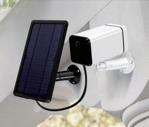 Wifi CCTV-Kamera 4G für den Außenbereich - Mini-Funk-Cloud-Kamera + Solarpanel mit IP65-Schutz