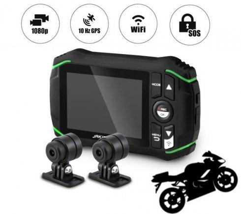 オートバイカメラ-フルHD解像度+ WiFiを備えたDODKSB500Jakiroデュアルカメラセット