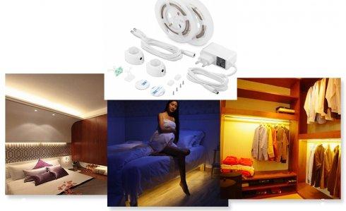 LED strips set for room 2x 1,5M strip for motion sensor + adjustable switch-off time - PACK