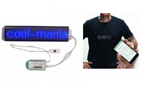 Flexible LED strip controlled via bluetooth by mobile app - blue 3,5 x 15 cm