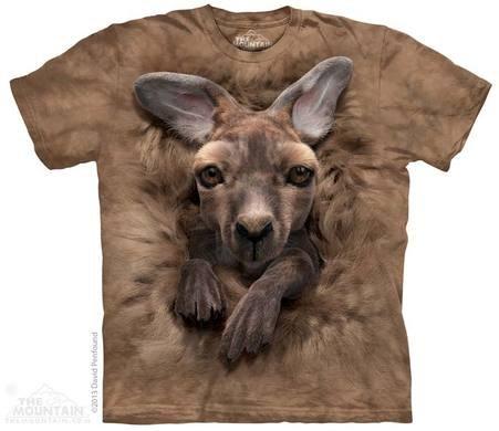 バティックシャツ3D - 若いカンガルー
