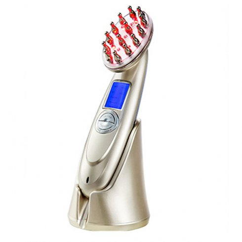 Portable electric massage hairbrush - LED infrared laser