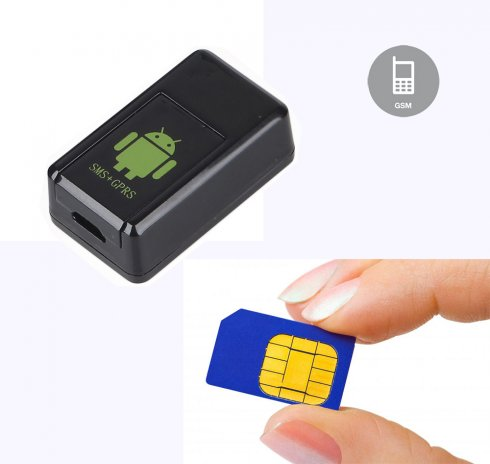 GPS locator with camera - audio and video recording on micro SD