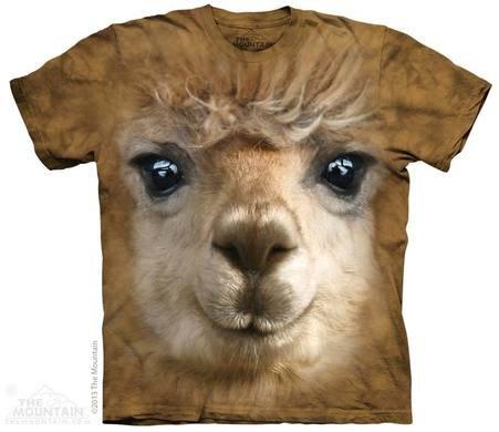Batikované tričko 3D - Alpaka